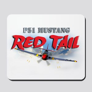 P51 Mustang Red Tail Mousepad