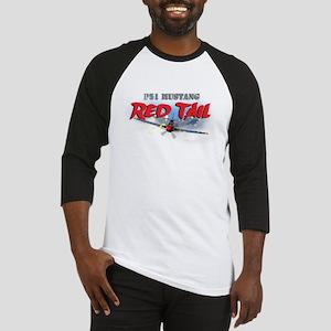 P51 Mustang Red Tail Baseball Jersey