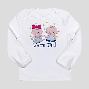 We're One Boy & Girl Long Sleeve Infant T-Shirt