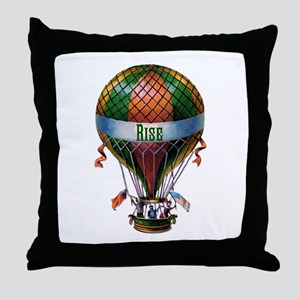 Rise (green) Throw Pillow