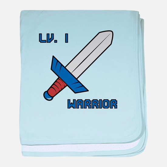 Level 1 Warrior baby blanket