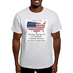 George W & the birth of America Ash Grey T-Shirt