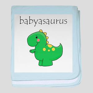 Babyasaurus Dinosaur baby blanket
