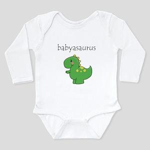 Babyasaurus Dinosaur Long Sleeve Infant Bodysuit