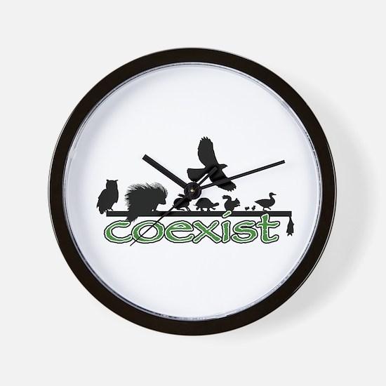 Wildlife Coexist Wall Clock
