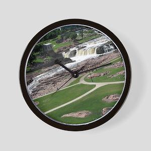 Summer At The Falls 2 Wall Clock