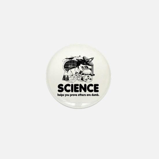 Science White Mini Button