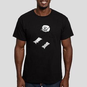 Cereal Guy Newspaper Tear Men's Fitted T-Shirt (da