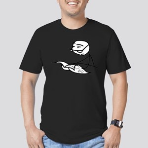Cereal Guy Newspaper Men's Fitted T-Shirt (dark)