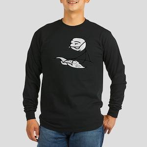 Cereal Guy Newspaper Long Sleeve Dark T-Shirt