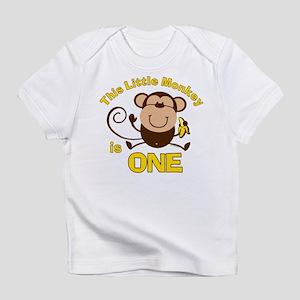 Little Monkey 1st Birthday Boy Infant Tee