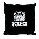 Science Black Throw Pillow
