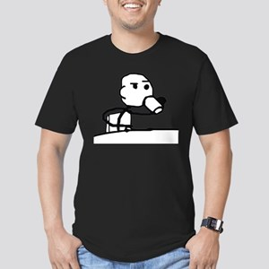 Cereal Guy Sip Men's Fitted T-Shirt (dark)