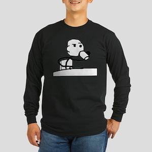 Cereal Guy Sip Long Sleeve Dark T-Shirt