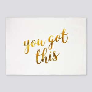 You got this inspiration quote gold 5'x7'Area Rug