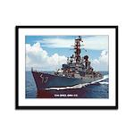 USS HOEL Framed Panel Print