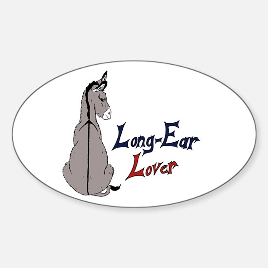 Color Long-Ear Lover Oval Decal
