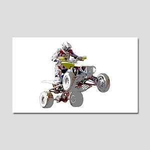 ATV Racing (color) Car Magnet 20 x 12