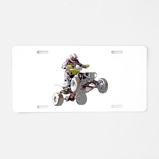 ATV Racing (color) Aluminum License Plate