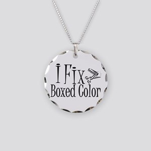 I Fix Boxed Color Necklace Circle Charm