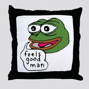 Feels Good Man Throw Pillow