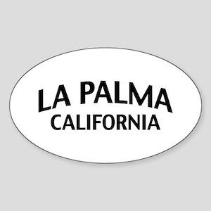 La Palma California Sticker (Oval)