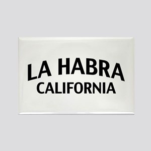 La Habra California Rectangle Magnet