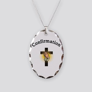 Confirmation Necklace Oval Charm