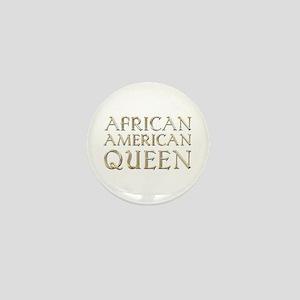 African American Queen Mini Button