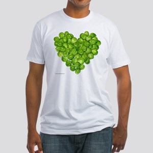 Brussel Sprouts Heart Fitted T-Shirt