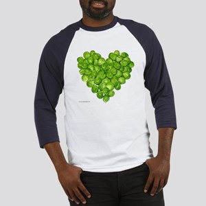 Brussel Sprouts Heart Baseball Jersey