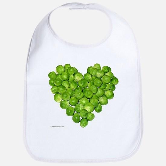 Brussel Sprouts Heart Bib