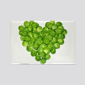 Brussel Sprouts Heart Rectangle Magnet