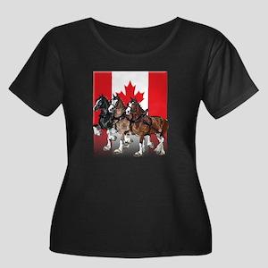 Clydesdale Women's Plus Size Dark T-Shirt
