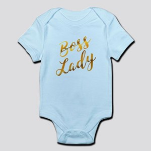 Boss Lady sassy quote gold foil Body Suit