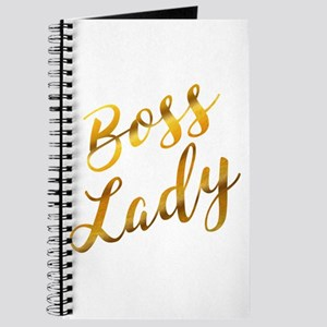 Boss Lady sassy quote gold foil Journal