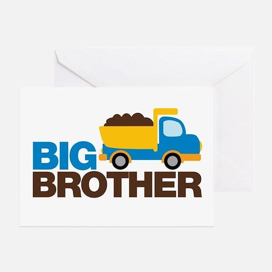 Dump Truck Big Brother Greeting Card