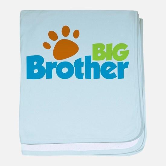 Paw Print Dog Big Brother baby blanket