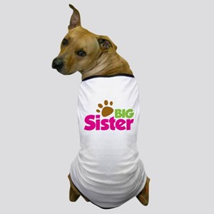Paw Print Dog Big Sister Dog T-Shirt