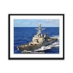 USS HOPPER Framed Panel Print
