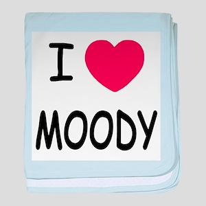 I heart moody baby blanket