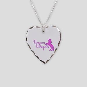 Unicorn Whisperer Necklace Heart Charm