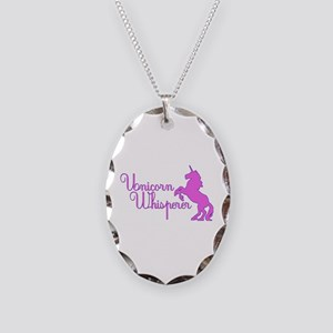 Unicorn Whisperer Necklace Oval Charm