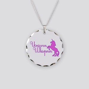 Unicorn Whisperer Necklace Circle Charm