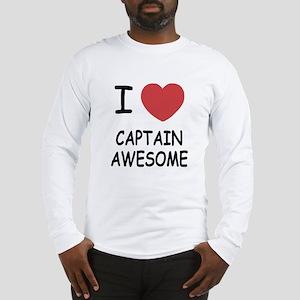 I heart captain awesome Long Sleeve T-Shirt