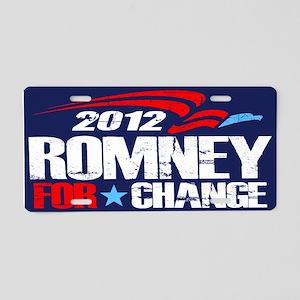 Romney 2012 For Change Aluminum License Plate