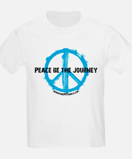 Peace be the journey - Blue White T-Shirt