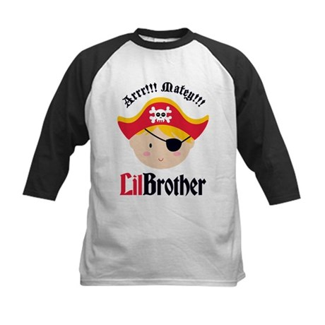 Blonde Hair Pirate Little Brother Kids Baseball Je