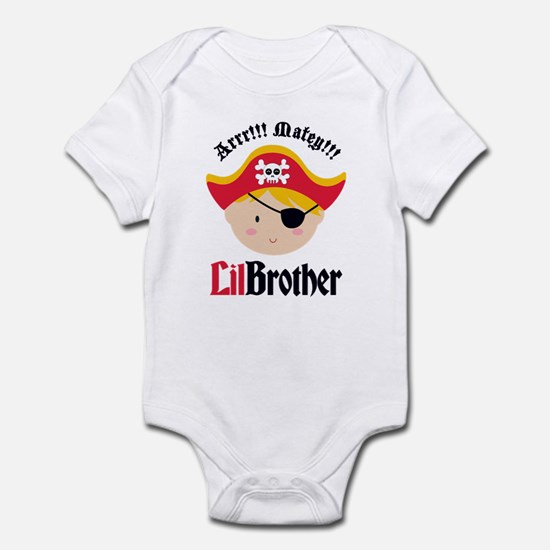 Blonde Hair Pirate Little Brother Infant Bodysuit