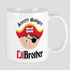 Brown Hair Pirate Little Brother Mug